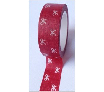 masking tape petits noeuds - rouge