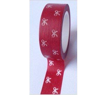 masking tape petits noeuds - rouge