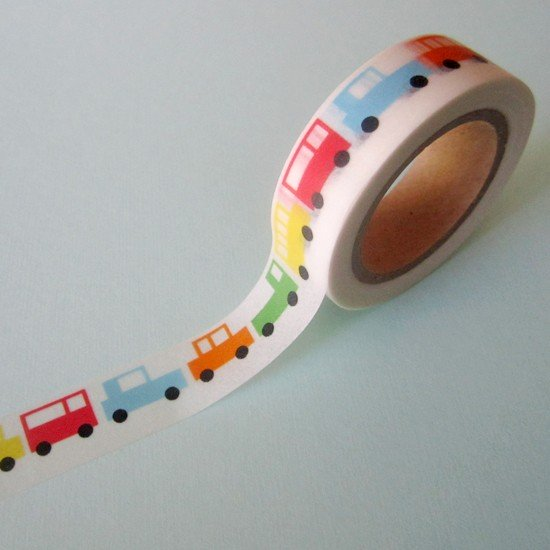 masking tape voitures / multicolore