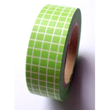 Masking Tape carreaux - vert
