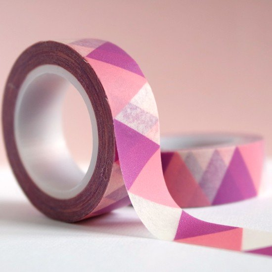 masking tape grands triangles - rose