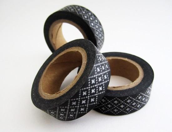 masking tape mini croix / noir