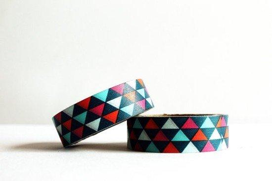 masking tape les triangles /multicolore