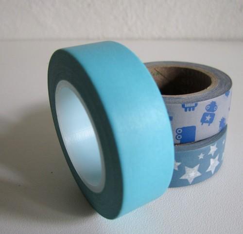 Masking Tape uni - bleu turquoise