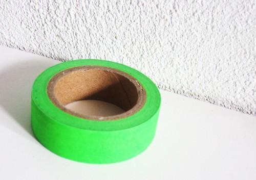 masking tape uni / vert fonçé fluo