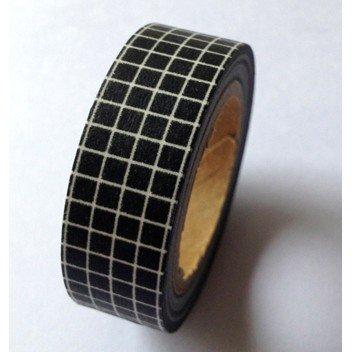 Masking Tape carreaux - noir