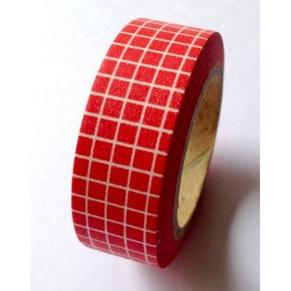 Masking Tape carreaux - rouge