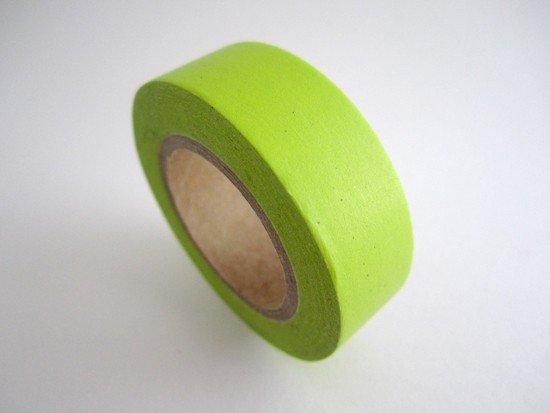Masking Tape uni / vert clair fluo