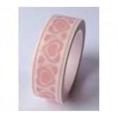 masking tape petits coeurs - rose pâle