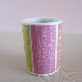 masking tape large messages / fond coloré