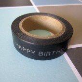 masking tape happy birthday / gris