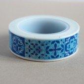 masking tape carreaux de ciment / bleu