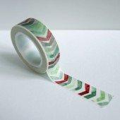 masking tape chevrons / aquarelle