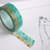 masking tape ethnic / turquoise et kaki