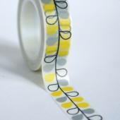 masking tape  feuilles / jaune et gris