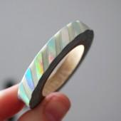 masking tape fin rayures / foil arc en ciel