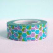 masking tape géométrique hexagone / multicolore