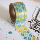 masking tape ikat / bleu et jaune