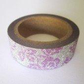 masking tape les brillants / fleurs mauves