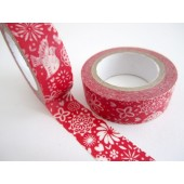 masking tape noël scandinave / rouge