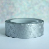 masking tape métallisé / étoiles / argent