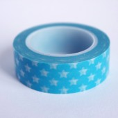 masking tape étoiles / turquoise