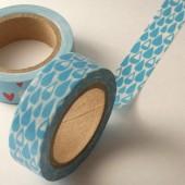 masking tape gouttes de pluie / bleu