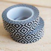 masking tape ikat / noir