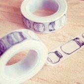 masking tape bocal mason jar / noir