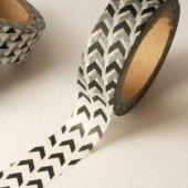 masking tape minis chevrons biais / noir