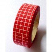 Masking Tape carreaux - rouge
