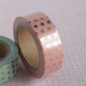masking tape foil pois / rose
